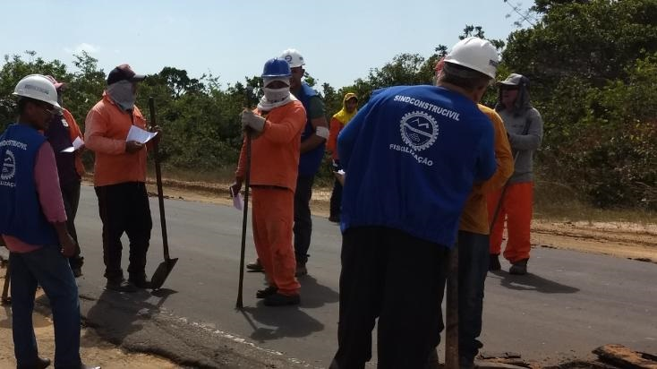 Blitz Sindical do Sindconstrucivil-MA percorre obras na capital